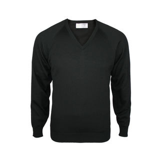 Extrafine Merino Classic Fit Vee - Black