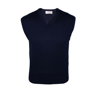 Extrafine Merino Classic Fit Vest - Dark Navy