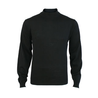 Extrafine Merino Classic Fit Turtle Neck - Black