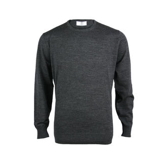 Extrafine Merino Classic Fit Crew - Charcoal