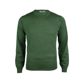 Extrafine Merino Classic Fit Crew - Sherwood