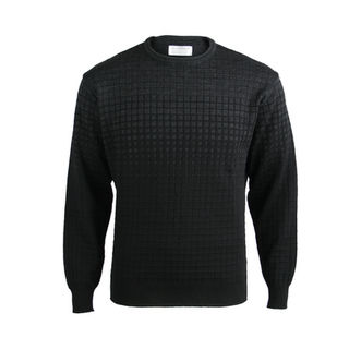 NZ Made Extrafine Merino Crew - Black/Charcoal
