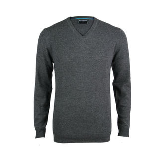 Cashmere & Merino Tailored Fit Vee - Platinum