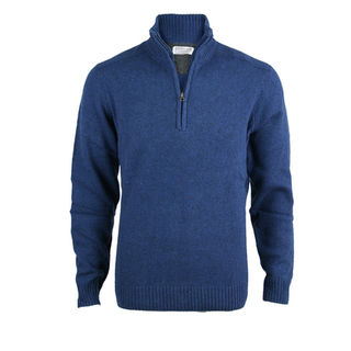 Merino & Lambswool Regular Fit 1/4 Zip - Ink