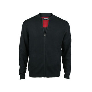Bomber Jacket with Pockets - Tailored Fit.  Black