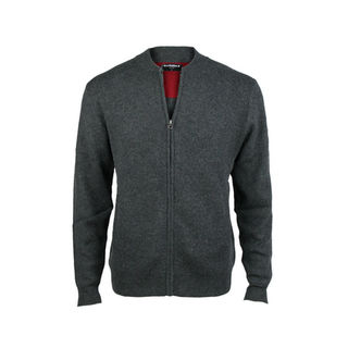 Bomber Jacket with Pockets - Tailored Fit.  Charcoal