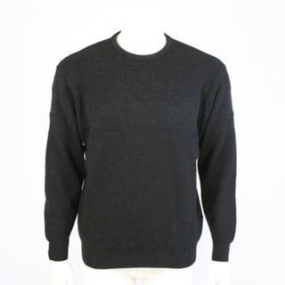 NZ MADE Crew Neck Jacquard - Charcoal