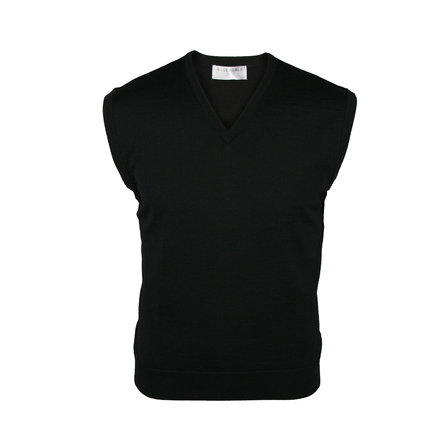 Extrafine Merino Classic Fit Vest - Black