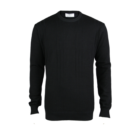 100% Pure Wool Crew - Black