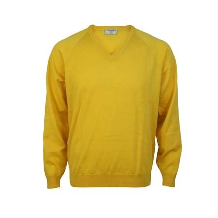 Extrafine Merino Classic Fit Vee - Lemon