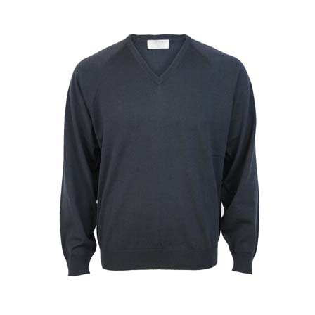 Extrafine Merino Classic Fit Vee - Coal