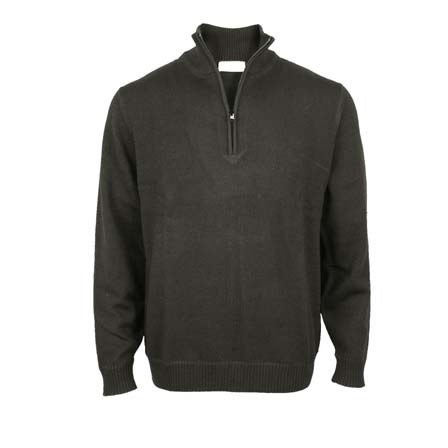 Pure Wool 1/4 Zip - Charcoal