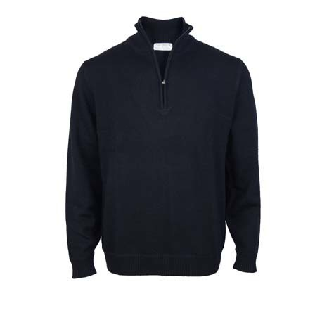 Pure Wool 1/4 Zip - Dark Navy