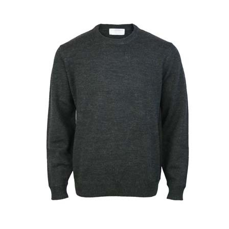 Pure Wool Crew - Charcoal