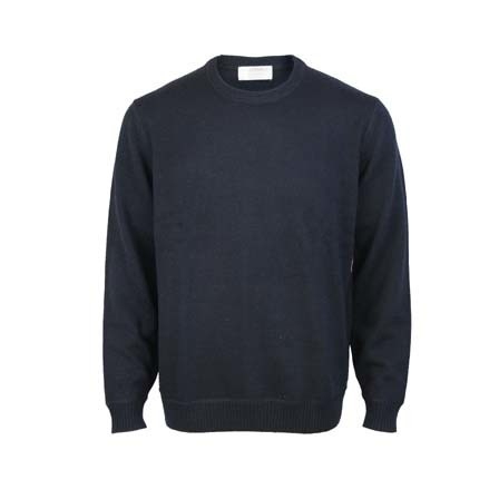 Pure Wool Crew - Dark Navy